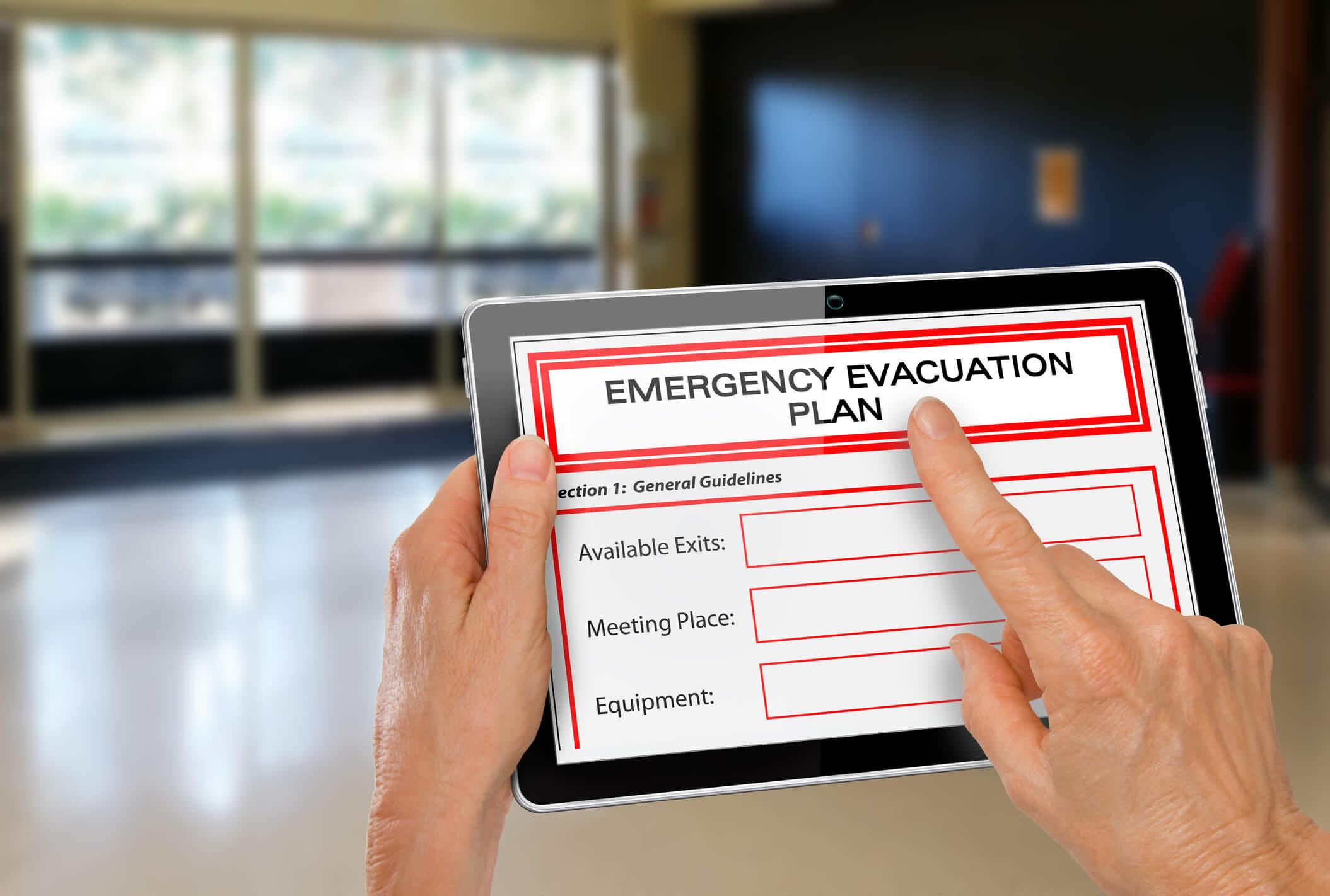 Emergency evacuation plan tips