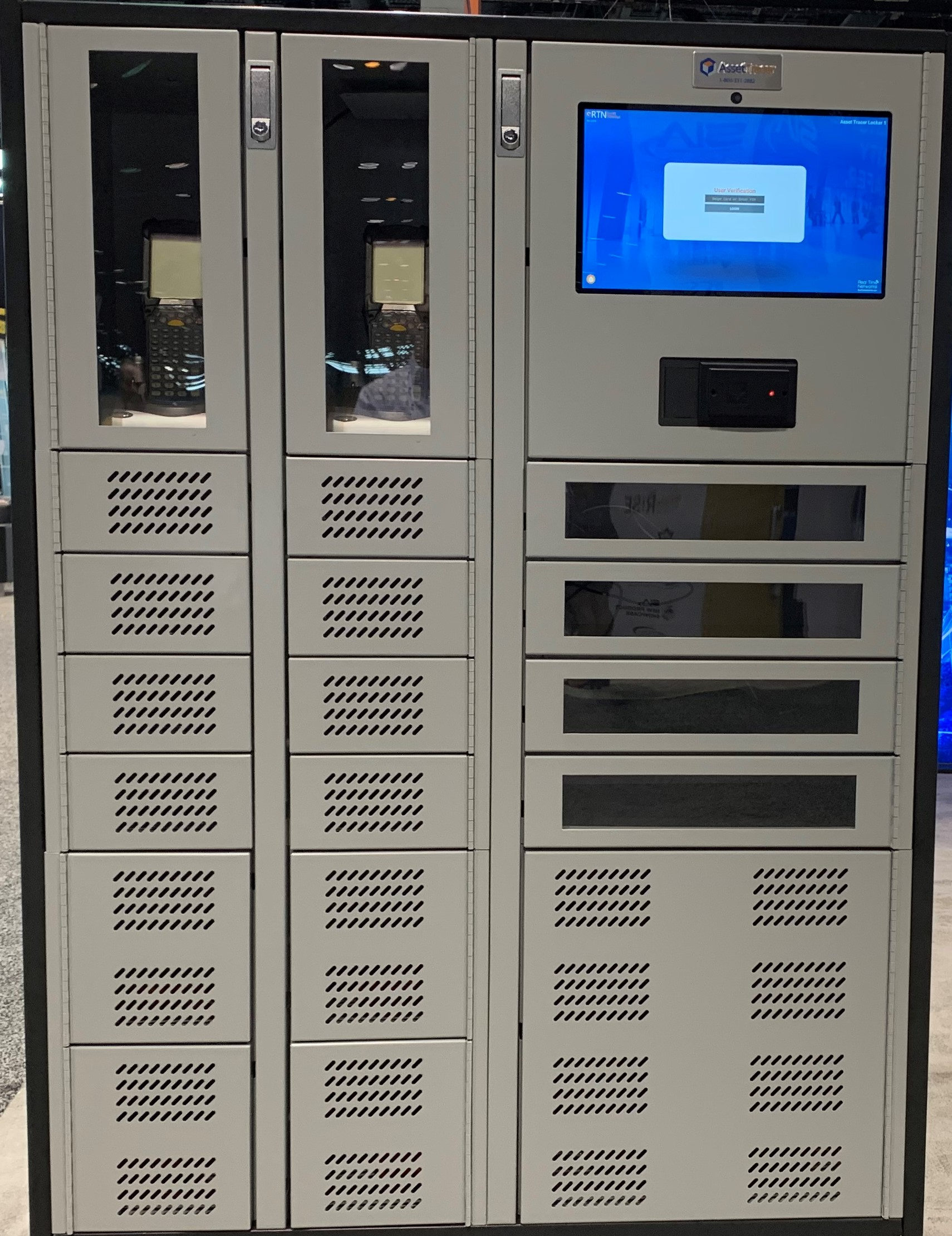 laptop locker with clear doors